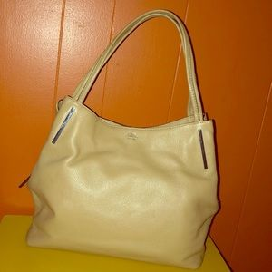 Vince Camuto Ike Beige Tan Pebbled Leather Tote